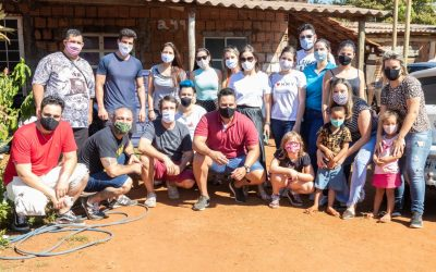 Ação social distribui uma tonelada e meia de alimentos em Ribeirão Preto-SP