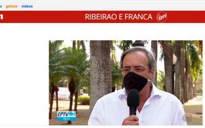 Dr. Jorge Sanchez concedeu entrevista para o Jornal da EPTV para comentar sobre a condenação da Justiça de Ituverava contra agentes públicos