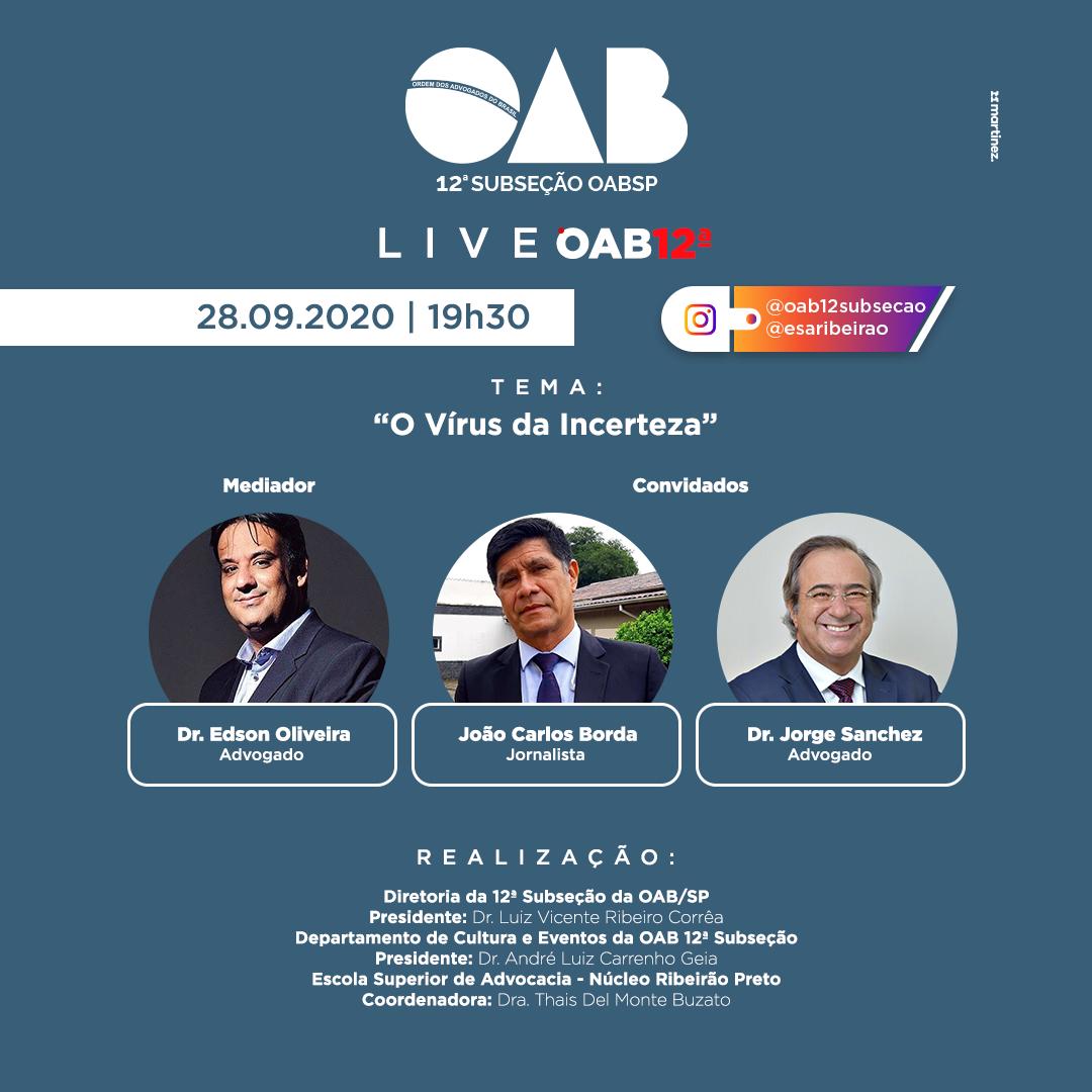 LIVE OAB 12ª SUBSEÇÃO