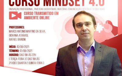 O curso Mindset 4.0 será ministrado entre os dias 10 e 12 de agosto e contará com o professor Dr. Rafael Barioni
